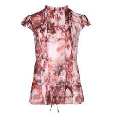 TED BAKER cherry blossom floral print high neck ruffle blouse shirt top 3 12 M