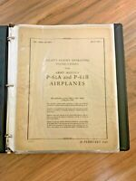 Northrop Black Widow P-61A and P-61B Pilot's Flight Operating Book Original 1945
