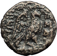 THESSALONICA in MACEDONIA 187BC Zeus Eagle Authentic Ancient Greek Coin i59761