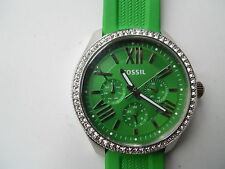 Fossil womens silicon rubber band,battery & water resistant Analog watch.AM-4489
