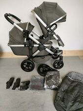 iCandy Peach All-Terrain Forest DOUBLE Pushchair on Satin Chassis