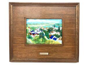 MCM Framed Enamel Plaque Cezanne