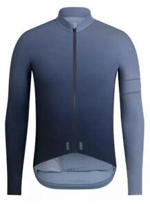 Rapha PRO TEAM LS Thermal Colourburn Jersey Grey Blue/Dark Navy BNWT Size L