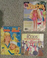3 Barbie Books~ Rockers, Barbie Magazine, And Barbie & Skipper Coloring Book