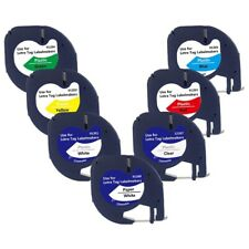 7 Pack 91201 Cinta Dymo Letratag Compatible 12Mm 91330 16952 91331 91332 Ci L9E4