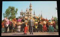 Disneyland Postcard 1966 Walt Disney Costumed Characters Vintage Castle WDP 0470