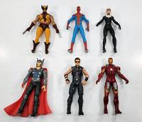 Marvel Universe 3.75 Figure Lot - Movie Thor Ironman Hawkeye Spiderman Wolverine