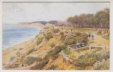 Dorset postcard - West Cliff Walk, Bournemouth - ARQ No. 921 - P/U 1924