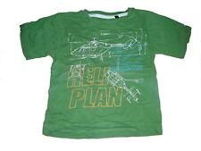 C & A tolles T-Shirt Gr. 104 grün mit Hubschrauber Motiven !!