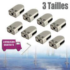 8X Pince à verre acier inoxydable clip perçage Porte-Verre 6-12mm