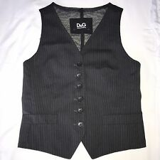 Dolce & Gabbana Striped Black Suit Vest. Size 38. Small