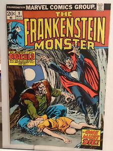 Marvel FRANKENSTEIN #9 (1974) Dracula Appearance John Buscema & Tom Palmer Cover