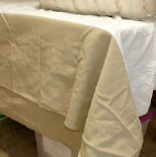 "Linens - WAVERLY Bedskirt Dust Ruffle KING 14"" Drop Cotton Beige Khaki 70x79"