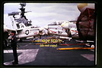 1970's Navy Aircraft Carrier and LTV A-7 Corsair II Planes, Original Slide a1b