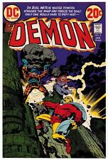 1973 JACK KIRBY THE DEMON #5 ORIGINAL COVER PROOF DC COMICS PRODUCTION ART ADLER