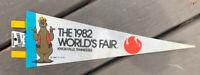 Vintage Souvenir Pennant 1982 World's Fair Knoxville TN Yogi Bear New Old Stock