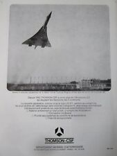 1971 PUB THOMSON-CSF TOULOUSE ILS STATION BLAGNAC CONCORDE 001 TEST FLIGHTS AD