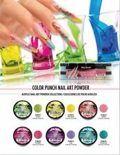 Mia Secret Acrylic Nail Powder Color Punch Collection For Colored Nail 6 pcs Set