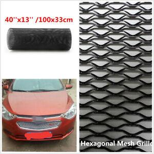 DIY Black Hexagonal Mesh Car Front Upper Bumper Grille Net Aluminum Mesh Grille