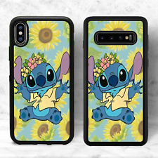 Lilo and Stitch Sunflower Phone Case(iPhone Models Samsung 10, Google Pixel 3A)