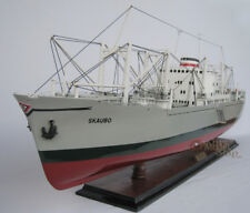 M.S. Skaubo Handcrafted Cargo Ship Model Scale 1:14