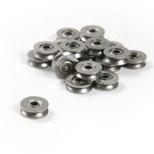 50pcs 3*12*4mm Metal V Groove Guide Pulley Rail Ball Bearings Wheel