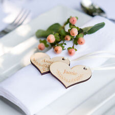 10pk Mixed Name Heart Tag, Personalised Wedding Tags, Place Setting (OHSO735)