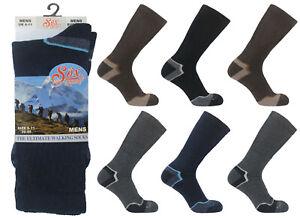 3 Pairs Mens Quality Thermal Wool Walking Ski Socks Hike Hiking Boot Size 6-11