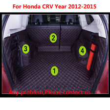 Black/Red Trunk Boot Mats Cargo Liner For Honda CRV 2012-2016 All Weather Fit