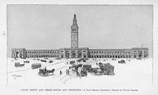SAN FRANCISCO UNION DEPOT AND FERRY HOUSE RAILROAD STATION ARCHITECTURE TOWER