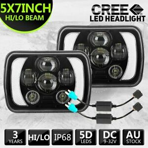 7x6'' 5x7'' inch LED Headlights HI/LO/DRL for 1983-2004 Toyota Hilux + Adapters