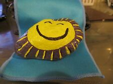 """The Sun also Smiles""  Paperweight/Pet Rock-Hand Painted"