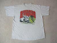 VINTAGE Chicago Blackhawks Shirt Adult Extra Large Gray NHL Hockey Mens 90s *