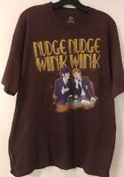 Monty Python Liquid Blue Nudge Nudge Wink Wink Men's T-Shirt New Size Large