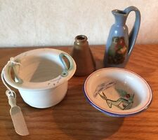 Vintage Lot of 4 Small pottery items eccentric mix Handcrafted