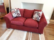 Argos Clara Red Two Seater Sofa 6 Months Old