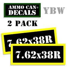7.62 X 38R Ammo Label Decals Box Stickers decals - 2 Pack BLYW