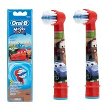 Braun Oral-B Kids Stages Power Refill Replacement Brush Heads Cars Pack of 2 New