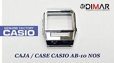 VINTAGE CASE/CASSA  CASIO AB-10 CROMADA NOS - SENZA CRISTALLO NI PULSANTI-