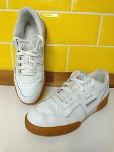 REEBOK Lifestyle Classics Workout Plus Leather Trainers Size 5.5 / 38 White