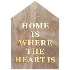 CASA in legno Segno Parete LED BIANCO CALDO CASA è DOVE Il Cuore è la placca di visualizzazione