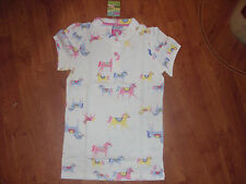 BNWT GIRLS JOULES CREAM HORSE PRINT POLO TOP SHIRT AGE 3-4 yrs.RRP £19.95