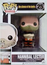 """HANNIBAL LECTER The Silence of the Lambs Pop Movies 4"""" Vinyl Figure #25 2014"""