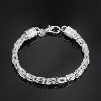 silver 925 solid charms fashion Men chain women necklace Jewelry wedding N048