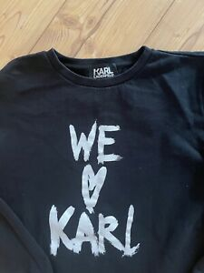 Karl Lagerfeld Sweatshirt Gr.M schwarz TOP