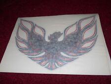 1976 PONTIAC FIREBIRD TRANS-AM HOOD BIRD DECAL TRANSFER NEW CHARCOAL W RED NEW