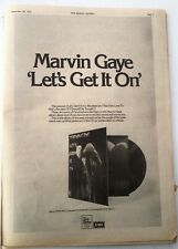 MARVIN GAYE Let's Get It On 1973 UK Poster size Press ADVERT 16x12 inches