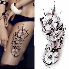 Temporary Tattoos Body Arm Back Sticker Decal Tattoo Paper Black Rose Fake Tatoo