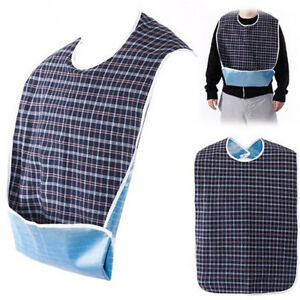 1* New Adult Mealtime Bibs Washable Wipe Clean Protector Disability Eating Aid