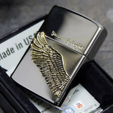 Zippo You Can Fly Higher Wing Emblem Black Ice USA Made Genuine Classic Lighter